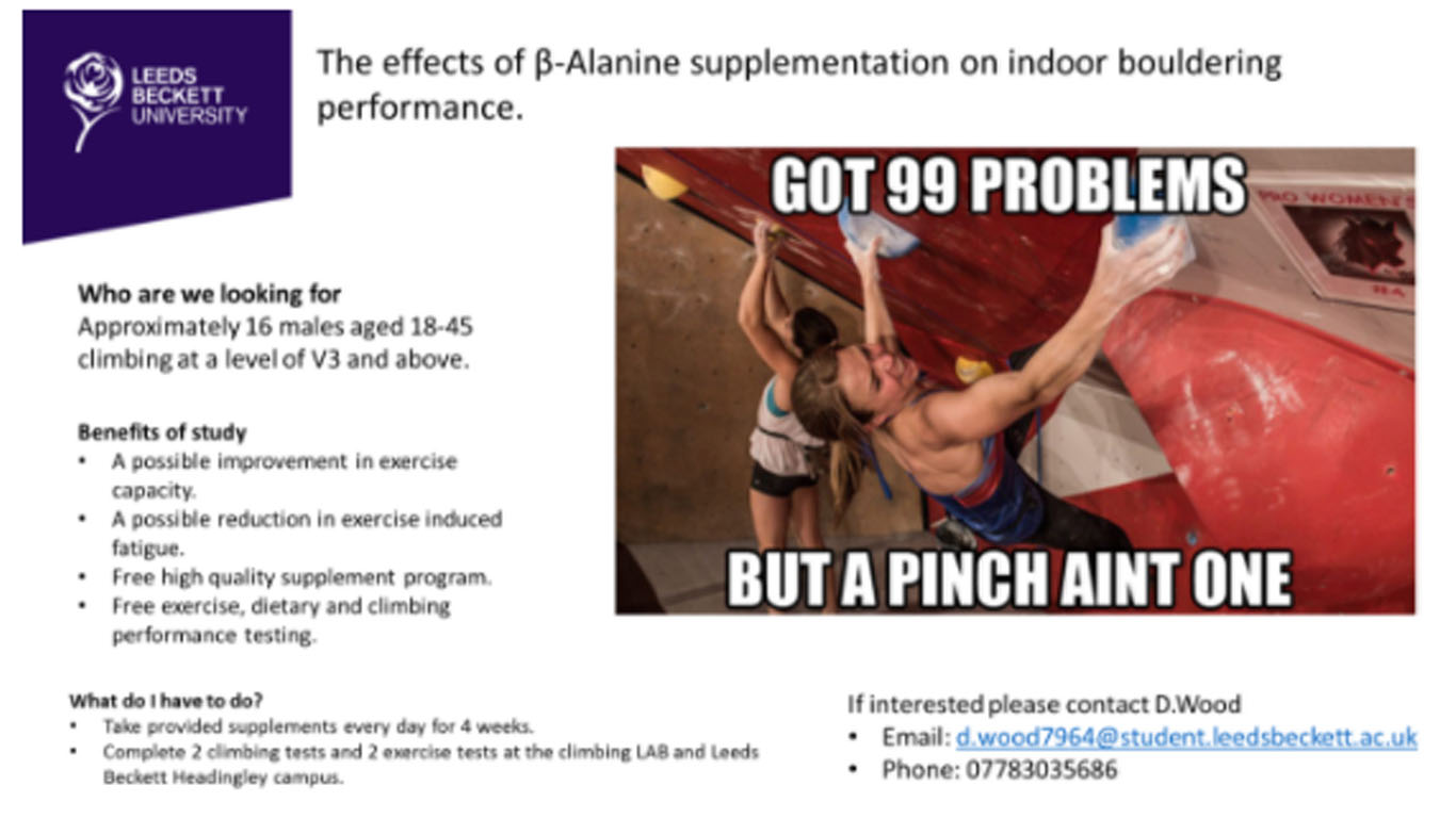 The effects of β-alanine on indoor bouldering performance